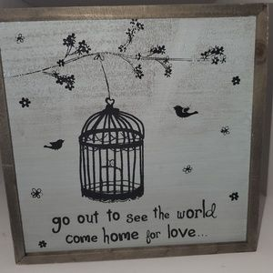 """Other - Framed wall art """"go out and see the world"""""""